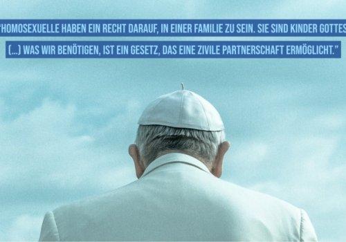Was der Papst zu gleichgeschlechtlichen Partnerschaften sagt...